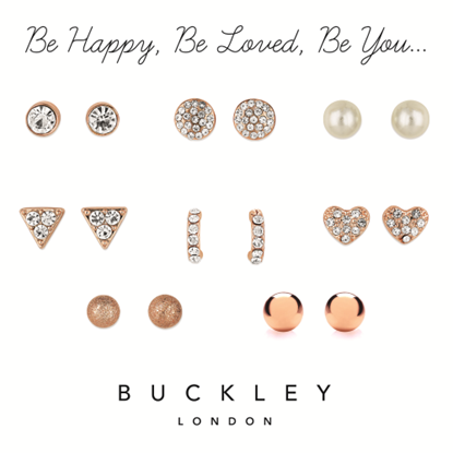 Picture of BUCKLEY LONDON - Set of 8 pairs of earrings