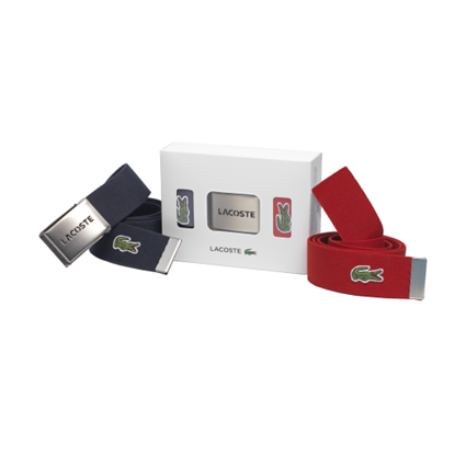 Picture of LACOSTE - Set of 2 fabric belts