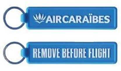 Image de AIR CARAÏBES - Porte clé PVC phosphorescent bleu