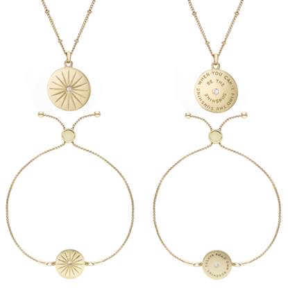 Picture of BUCKLEY - Sunshine script pendant and earring set