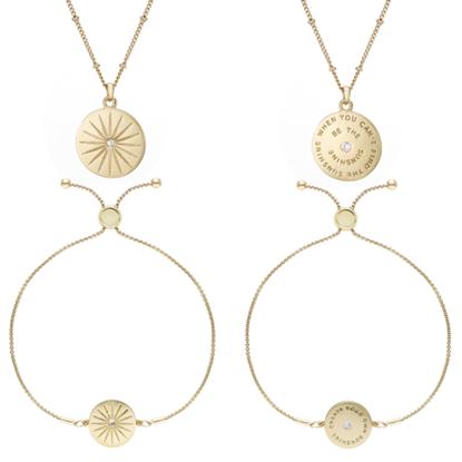Image de BUCKLEY - Sunshine script pendant and earring set