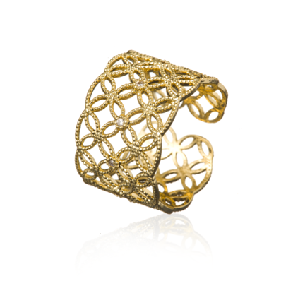 Picture of ZAZA & LILI - Gold adjustable ring