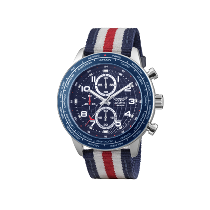 Picture of AVIATOR - Watch 2 wristbands fabric and leather
