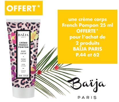 Image de OFFRE SPECIALE - Une crème corps rose litchi 25ml offerte pour l'achat de deux produits Baija