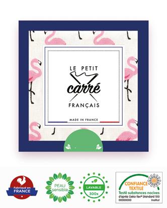 Image de EXCLU INTERNET ! LE PETIT CARRE FRANCAIS - Coffret de 6 lingettes nettoyantes flamants roses